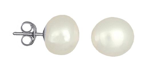 Ασημένια σκουλαρίκια με μαργαριτάρι 020434 020434 Ασήμι