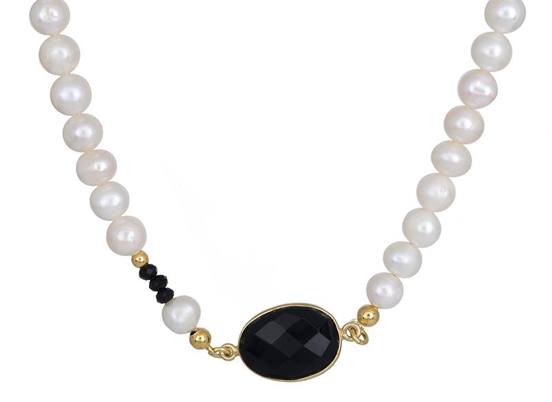 Κολιέ με πέρλες 925 020566 020566 Ασήμι ασημένια κοσμήματα κολιέ