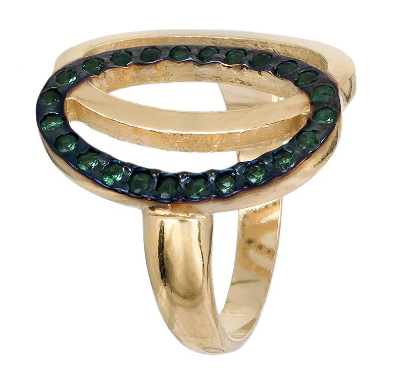 Δαχτυλίδι επίχρυσο ασημένιο 925 020584 020584 Ασήμι