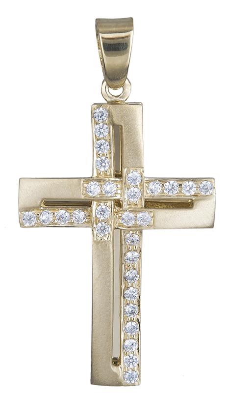 Σταυροί Βάπτισης - Αρραβώνα Χρυσός γυναικείος σταυρός 14Κ 020598 020598 Γυναικείο Χρυσός 14 Καράτια