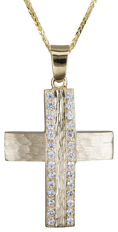 Βαπτιστικοί Σταυροί με Αλυσίδα βαπτιστικός σταυρός για κοριτσάκι 14Κ C020600 020600C Γυναικείο Χρυσός 14 Καράτια