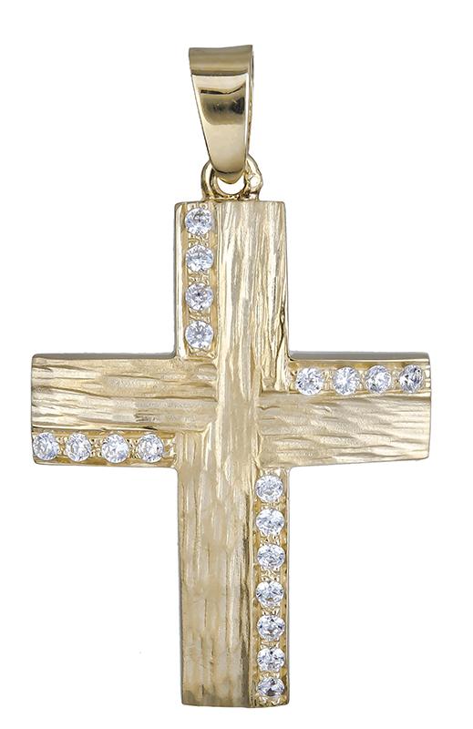 Σταυροί Βάπτισης - Αρραβώνα Βαπτιστικός σταυρός για κορίτσι Κ14 020602 020602 Γυναικείο Χρυσός 14 Καράτια