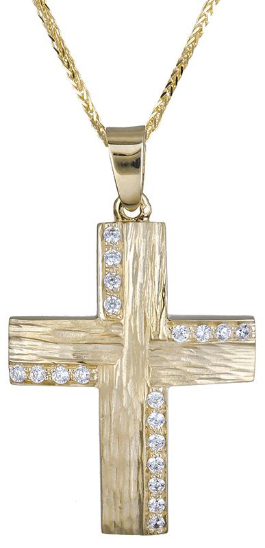 Βαπτιστικοί Σταυροί με Αλυσίδα βαπτιστικός σταυρός για κοριτσάκι 14Κ C020602 020602C Γυναικείο Χρυσός 14 Καράτια
