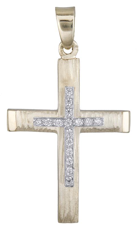 Σταυροί Βάπτισης - Αρραβώνα Σταυρός για κορίτσι διπλής όψης Κ14 020618 020618 Γυναικείο Χρυσός 14 Καράτια