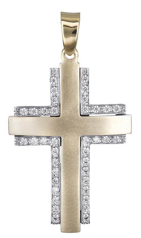 Σταυροί Βάπτισης - Αρραβώνα Σταυρός βάπτισης για κορίτσι Κ14 020632 020632 Γυναικείο Χρυσός 14 Καράτια