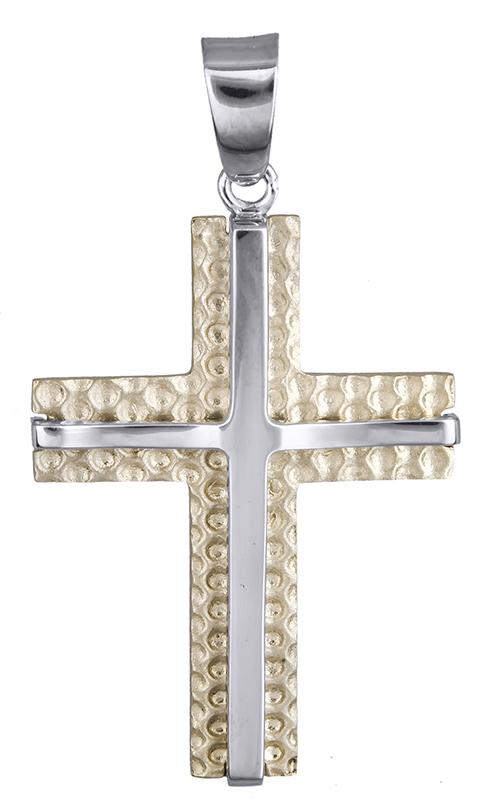 Σταυροί Βάπτισης - Αρραβώνα Βαπτιστικός σταυρός για αγοράκι Κ14 020638 020638 Ανδρικό Χρυσός 14 Καράτια