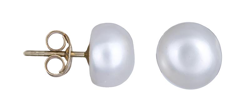 Χρυσά σκουλαρίκια Κ14 μαργαριταρένια 020657 020657 Χρυσός 14 Καράτια