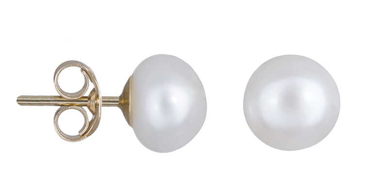 Χρυσά σκουλαρίκια Κ14 με μαργαριτάρια 020662 020662 Χρυσός 14 Καράτια χρυσά κοσμήματα σκουλαρίκια καρφωτά