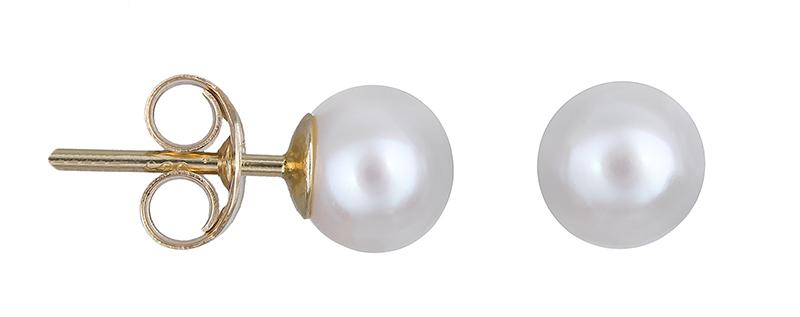 Χρυσά σκουλαρίκια Κ14 με μαργαριτάρια 020667 020667 Χρυσός 14 Καράτια χρυσά κοσμήματα σκουλαρίκια καρφωτά