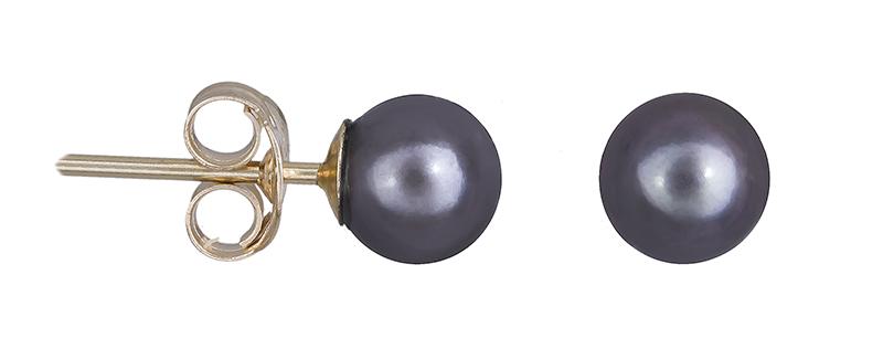 Χρυσά σκουλαρίκια Κ14 με μαύρα μαργαριτάρια 020674 020674 Χρυσός 14 Καράτια