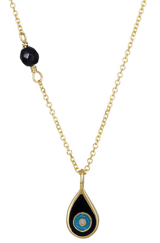 Κολιέ με ματάκι και όνυχα Κ14 020685 020685 Χρυσός 14 Καράτια χρυσά κοσμήματα κολιέ