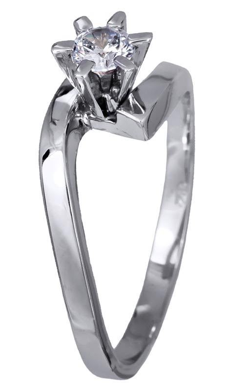 Μονόπετρο δαχτυλίδι αρραβώνων λευκόχρυσο Κ14 020695 020695 Χρυσός 14 Καράτια