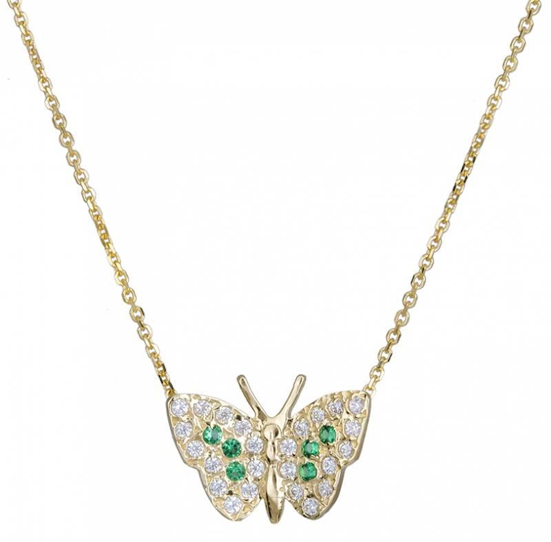 Κολιέ χρυσό 14Κ με πεταλούδα 020718 020718 Χρυσός 14 Καράτια