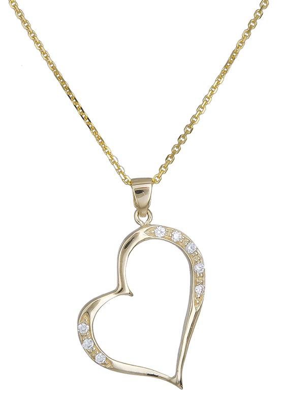Χρυσό κολιέ Κ14 με καρδιά 020724 020724 Χρυσός 14 Καράτια