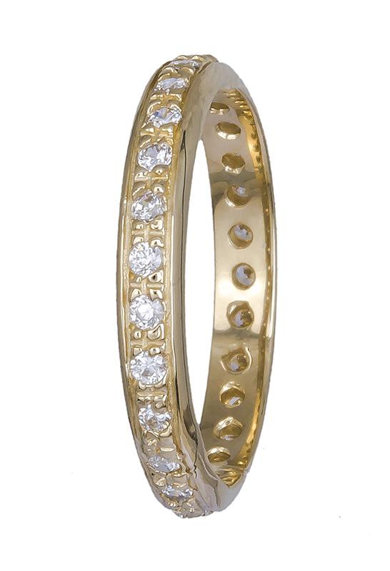 Χρυσό δαχτυλίδι Κ14 ολόπετρο 020760 020760 Χρυσός 14 Καράτια