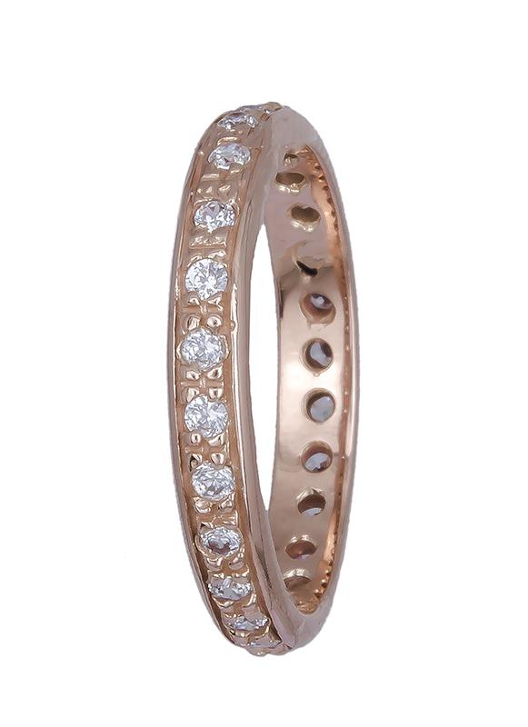 Ροζ χρυσό δαχτυλίδι Κ14 ολόπετρο 020761 020761 Χρυσός 14 Καράτια