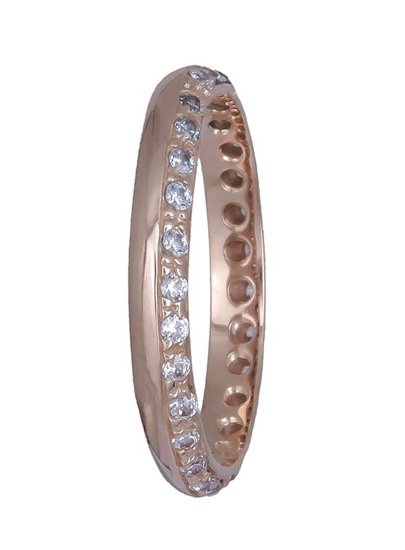 Γυναικείο δαχτυλίδι ροζ gold 14Κ 020778 020778 Χρυσός 14 Καράτια