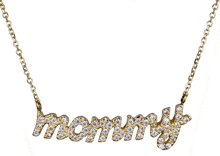 Κολιέ πετράτο mommy 020850 020850 Χρυσός 14 Καράτια