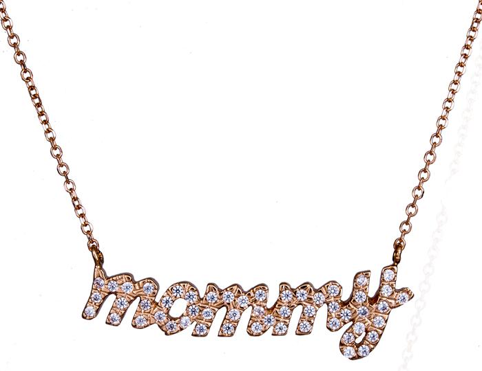 Κολιέ σε ροζ χρυσό mommy 020851 020851 Χρυσός 14 Καράτια