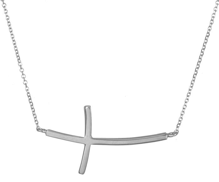 Λευκόχρυσο κολιέ με σταυρό Κ14 020861 020861 Χρυσός 14 Καράτια