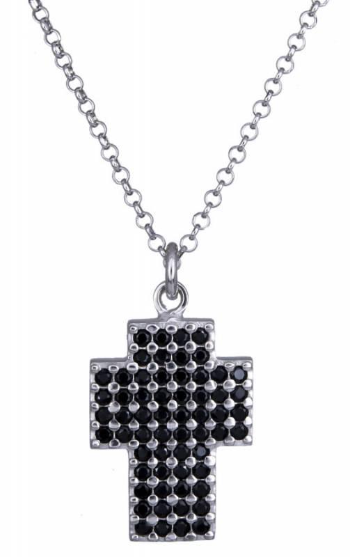Γυναικείος ασημένιος σταυρός με ζιργκόν 925 020875 020875 Ασήμι ασημένια κοσμήματα σταυροί