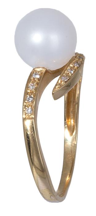 Χρυσό δαχτυλίδι Κ18 με μαργαριτάρι 020889 020889 Χρυσός 18 Καράτια