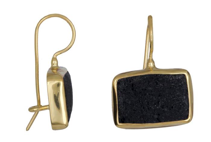 Χειροποίητα σκουλαρίκια με λάβα 020906 020906 Ασήμι