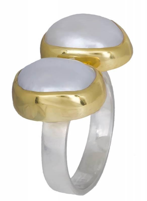 Δαχτυλίδι με μαργαριτάρια baroque 925 020911 020911 Ασήμι ασημένια κοσμήματα δαχτυλίδια