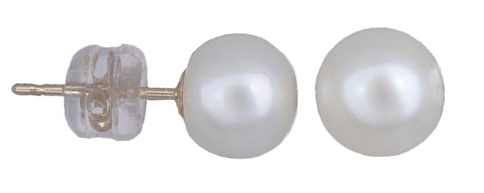 Σκουλαρίκια χρυσά Κ14 με μαργαριτάρια 020920 020920 Χρυσός 14 Καράτια χρυσά κοσμήματα σκουλαρίκια καρφωτά