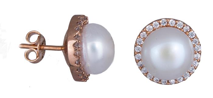 Σκουλαρίκια γυναικεία με μαργαριτάρια Κ14 020936 020936 Χρυσός 14 Καράτια χρυσά κοσμήματα σκουλαρίκια καρφωτά