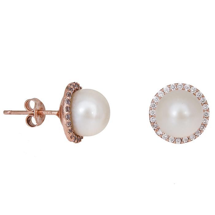 Σκουλαρίκια γυναικεία με μαργαριτάρια Κ14 020936 020936 Χρυσός 14 Καράτια