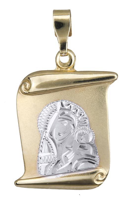 Χρυσό φυλαχτό της Παναγίας Κ14 021005 021005 Χρυσός 14 Καράτια