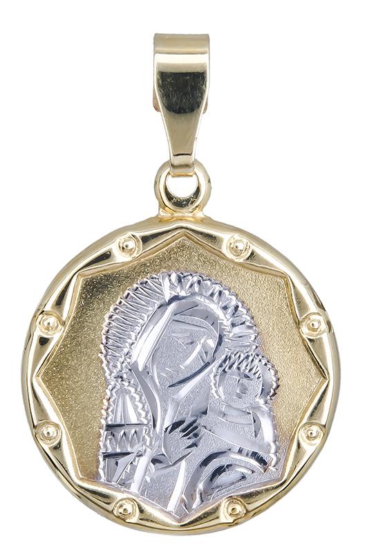 Χρυσό φυλαχτό Κ14 της Παναγίας 021006 021006 Χρυσός 14 Καράτια