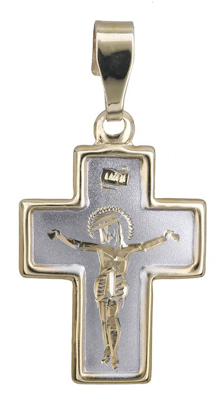 Χρυσό φυλαχτό σταυρός Κ14 021009 021009 Χρυσός 14 Καράτια