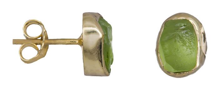 Σκουλαρίκια χειροποίητα με peridot 925 021034 021034 Ασήμι