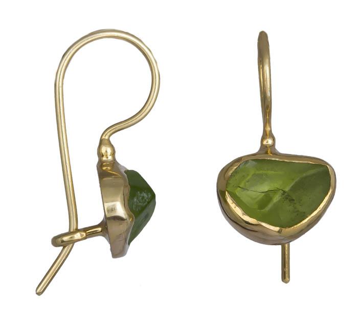 Χειροποίητα κρεμαστά σκουλαρίκια peridot 925 021035 021035 Ασήμι ασημένια κοσμήματα σκουλαρίκια