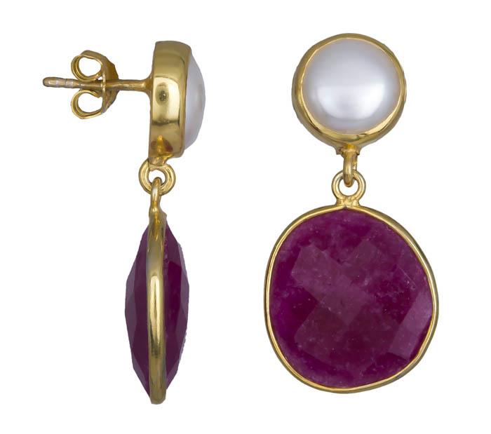 Χειροποίητα γυναικεία σκουλαρίκια 925 021037 021037 Ασήμι ασημένια κοσμήματα σκουλαρίκια