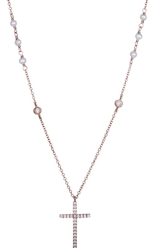 Ροζ gold ροζάριο με μαργαριταράκια Κ14 021075 021075 Χρυσός 14 Καράτια