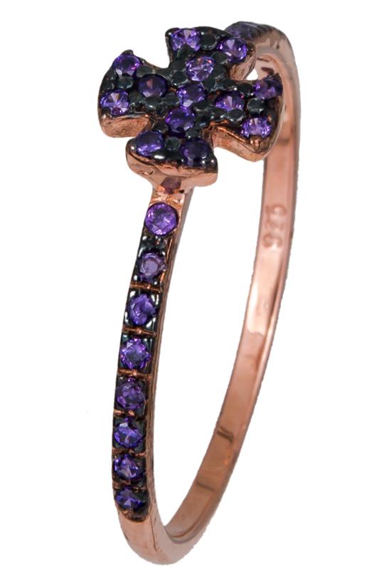 Δαχτυλίδι με πετράτο σταυρό 925 021139 021139 Ασήμι