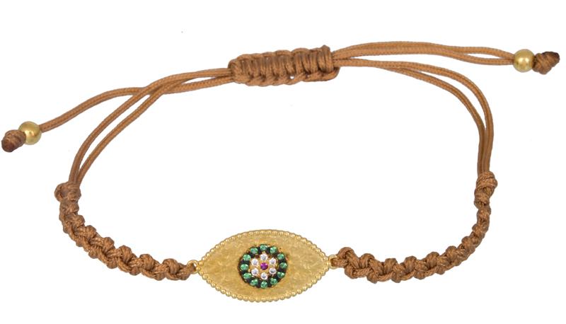 Γυναικείο χειροποίητο βραχιόλι με μάτι 925 021207 021207 Ασήμι ασημένια κοσμήματα βραχιόλια