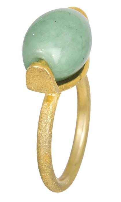 Γυναικείο δαχτυλίδι με πράσινη πέτρα 925 021221 021221 Ασήμι