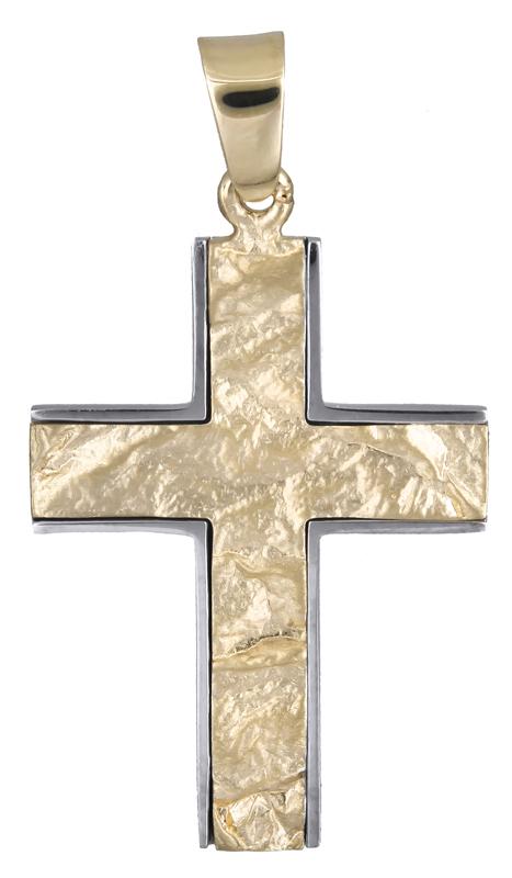 Σταυροί Βάπτισης - Αρραβώνα Σταυρός βάπτισης για αγόρι Κ14 021250 021250 Ανδρικό Χρυσός 14 Καράτια
