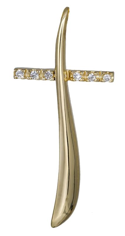 Σταυροί Βάπτισης - Αρραβώνα Γυναικείος σταυρός Κ14 021256 021256 Γυναικείο Χρυσός 14 Καράτια