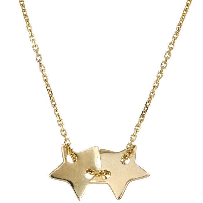 Κολιέ αστεράκια Κ14 021268 021268 Χρυσός 14 Καράτια