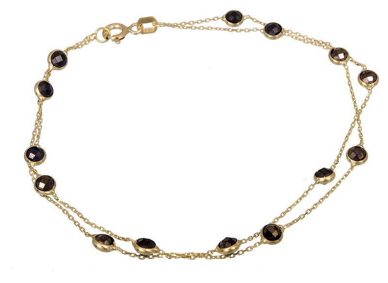 Διπλό γυναικείο βραχιόλι Κ14 021274 021274 Χρυσός 14 Καράτια