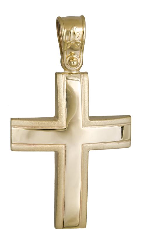 Σταυροί Βάπτισης - Αρραβώνα Χρυσός σταυρός βάπτισης Κ14 021292 021292 Ανδρικό Χρυσός 14 Καράτια