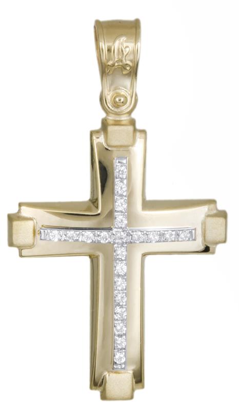 Σταυροί Βάπτισης - Αρραβώνα Γυναικείος χρυσός σταυρός Κ14 021298 021298 Γυναικείο Χρυσός 14 Καράτια