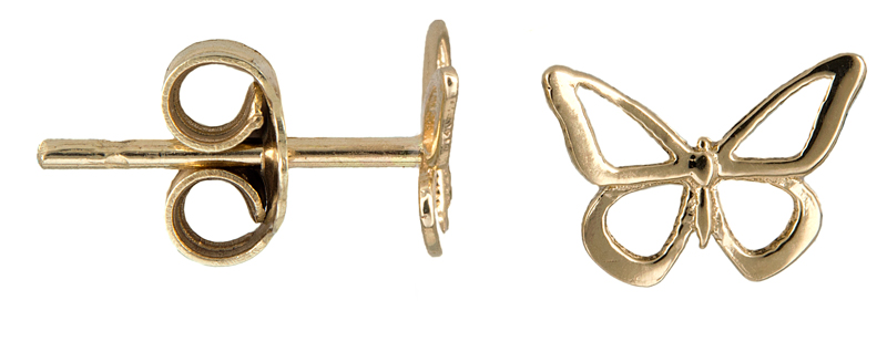 Χρυσά σκουλαρίκια πεταλούδα 021341 021341 Χρυσός 14 Καράτια