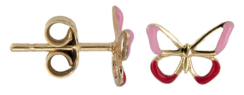 Παιδικά σκουλαρίκια με πεταλούδα Κ14 021342 021342 Χρυσός 14 Καράτια