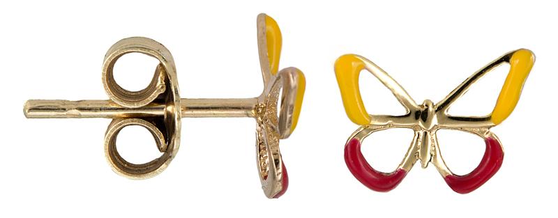 Χρυσά σκουλαρίκια με πεταλούδα Κ14 021345 021345 Χρυσός 14 Καράτια